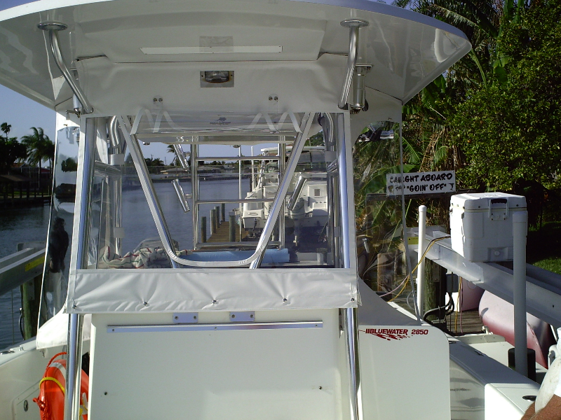 Center Console Enclosure | Bambi's Boatworks and Canvas ...